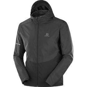 Salomon Agile Full Zip Hoodie Men black